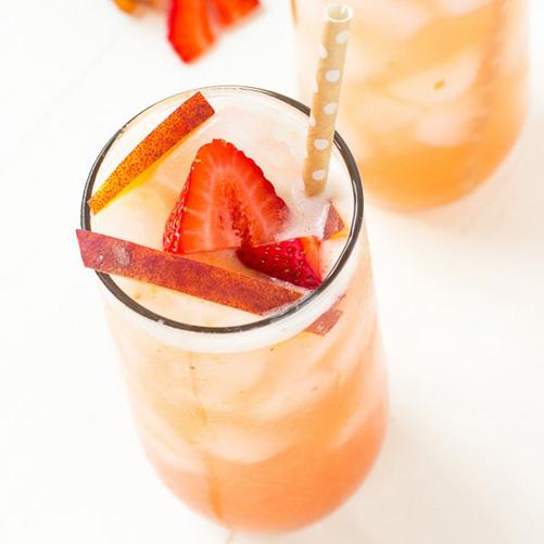 Peach Strawberry Tea